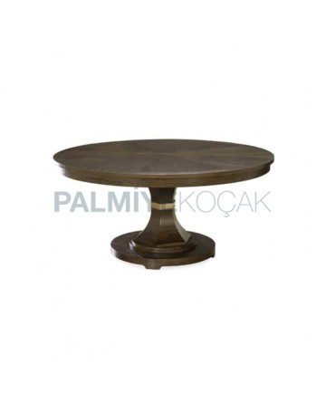 Avangard Table with Round Table Top Turned Leg