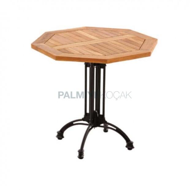 Iroco Table with Aluminum Leg