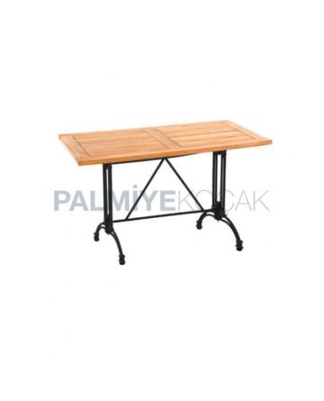 Cast Iron Leg Iroko Cafe Table