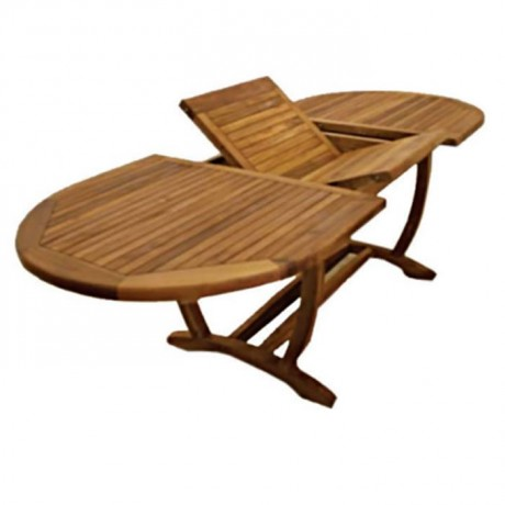 Iroko Self Storing Leaves  Garden Table - btk-0235