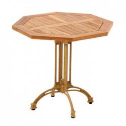 Iroko Octagon Cafe Table
