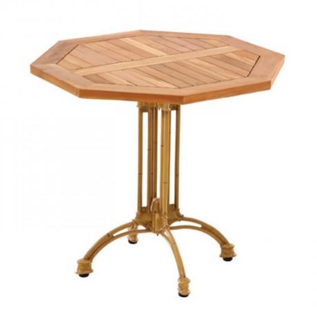 İroko Sekizgen Cafe Masası - ikm1256