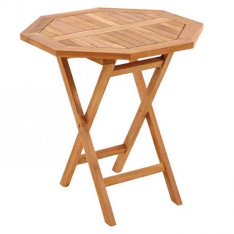 Iroko Table with Foldable Leg - ikm1253