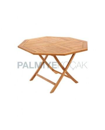 Foldable Large Iroko Table