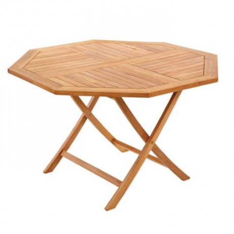 Foldable Large Iroko Table - ikm1254