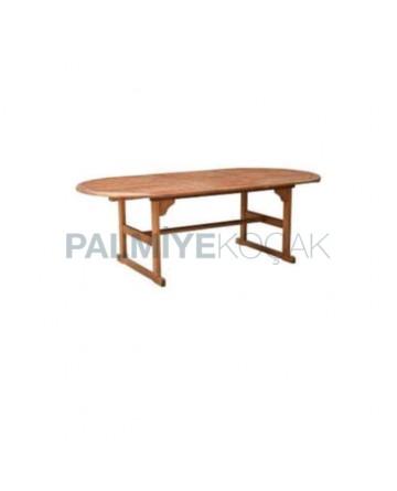 Oval Iroko Garden Table