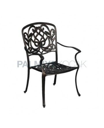 Copper Forging Painted Casting Arm Chair