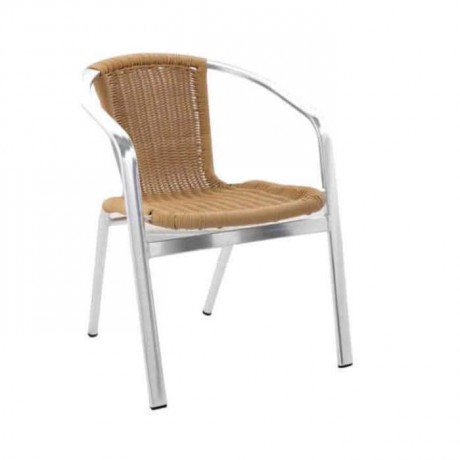 Honey Colored Aluminum Chair - alg03