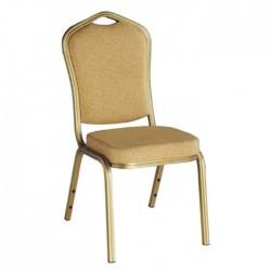 Aluminum Banquet Chair Cream Upholstered
