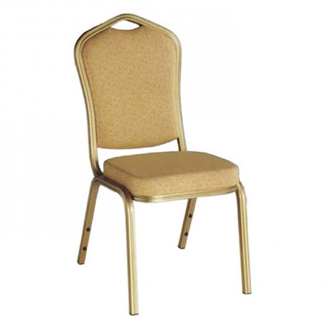 Aluminum Banquet Chair Cream Upholstered - has08