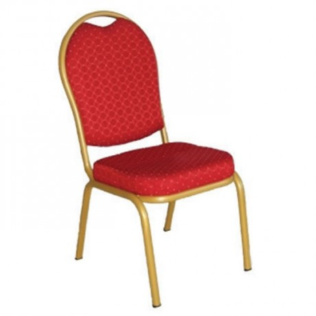 Aluminum Hilton Chair with Red Fabric - has16