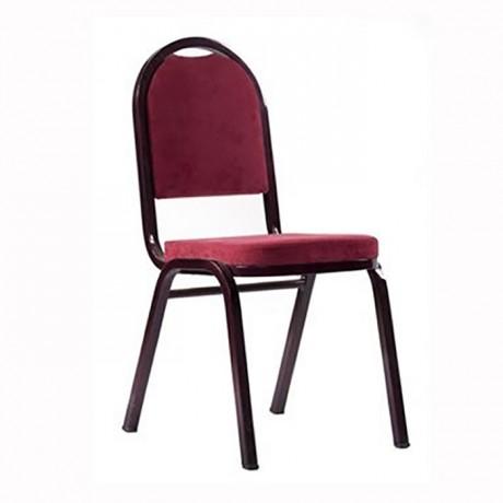 Bordo Metal Boyalı Hilton Sandalye - hts16