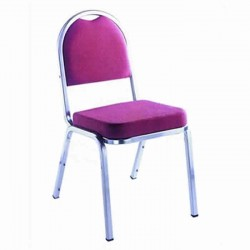 Hilton Chair with Chrome Metal Upholstered