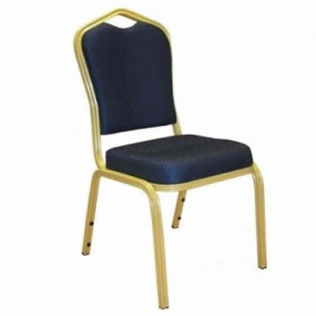 Navy Blue Fabric Upholstered Hilton Chair