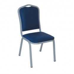 Hilton Chair with Blue Leather Upholstered