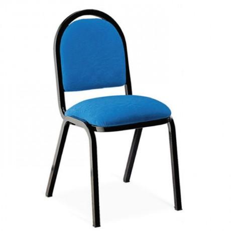 Mavi Kumaş Döşemeli Hilton Sandalye - hts11j