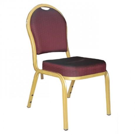 Oval Sırtlı Alüminyum Banket Sandalye - has15