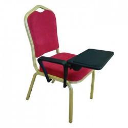 Aluminum Hilton Chair with Arm Desk