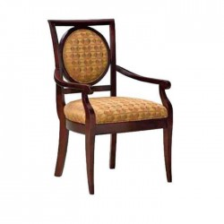 Beige Fabric Upholstered Classic Armchair