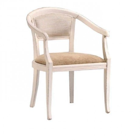 Beyaz Boyalı Klasik Kollu Otel Sandalyesi - ksak107