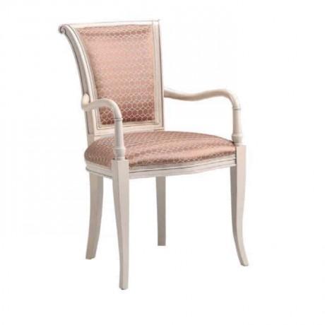 Beyaz Boyalı Klasik Kollu Sandalye - ksak97