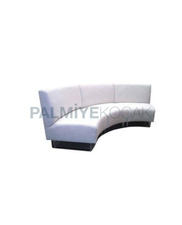 White Leather Upholstered Wedding Hall Booths