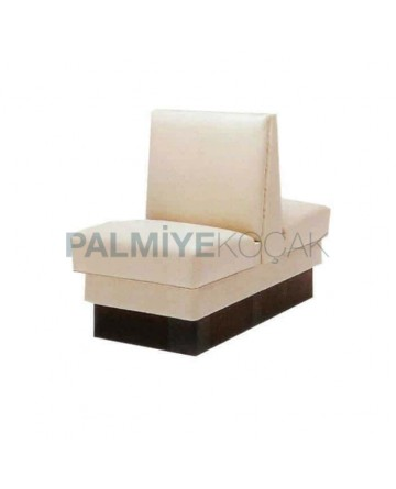 White Leather Upholstered Double Booths