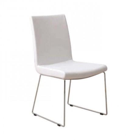 Beyaz Derili Çubuk Demirli Poliüretan Sandalye - psd234