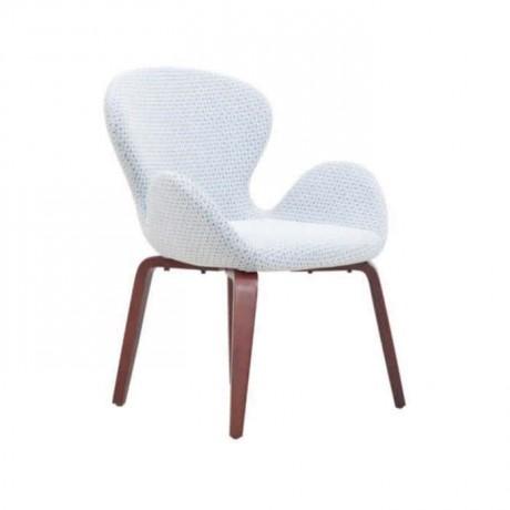 Beyaz Kollu Kumaşlı Ahşap Sandalye - psa689