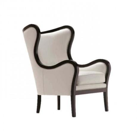 Beyaz Kumaş Döşemeli Venge Boyalı Kollu Sandalye - ksak54