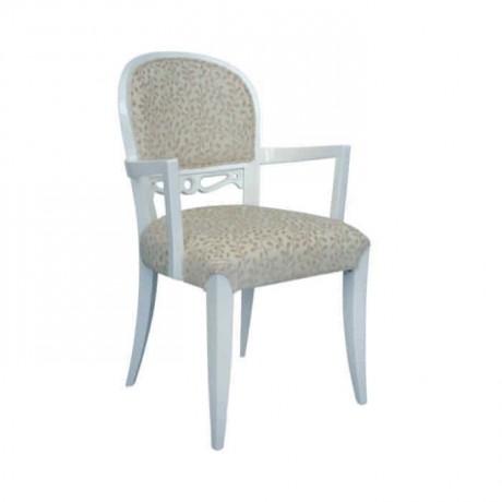 Beyaz Lake Boyalı Kollu Lobi Sandalyesi - ksak18