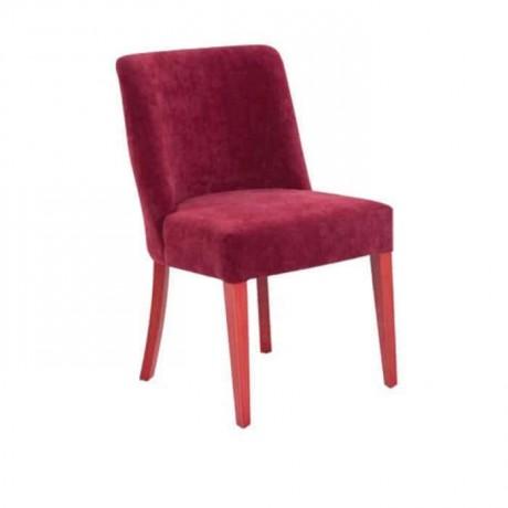 Claret Red Fabric Polyurethane Chair - psa624
