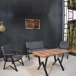Anthracite Garden Balcony Kitchen Cafe Set