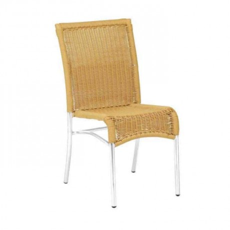 Braided Aluminum Armless Cafe Chair - alg21