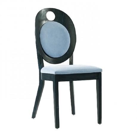 Cafe Sandalyesi Ahşap Kumaş Döşemeli - nkas27
