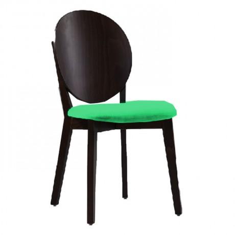Cafe Sandalyesi Ahşap Kumaş Döşemeli - nkas29