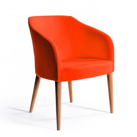 Cafe Sandalyesi Ahşap Kumaş Döşemeli - Cafe Sandalyeleri