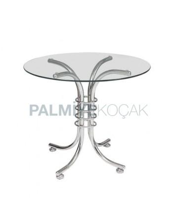 Round Table with Chrome Leg