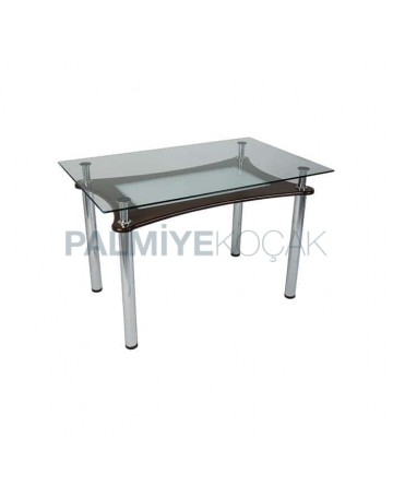 Glass Table with Metal Legs for four