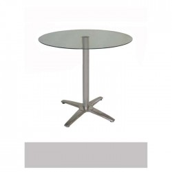 Glass Table with Stainless Star Leg