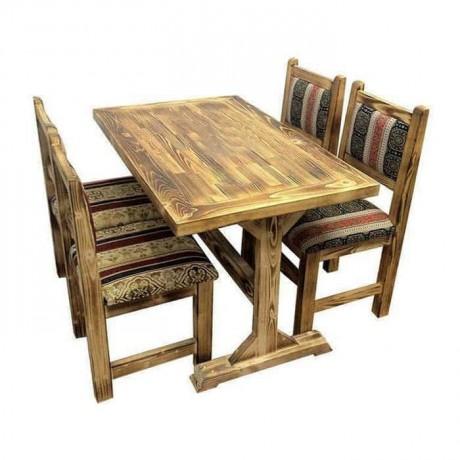Çam Eskitilmiş Antik Masa Sandalye Takımı - cmsa3044