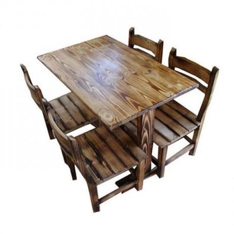 Çam Eskitme Cilalı Restoran Otel Masa Sandalyesi - mcs025
