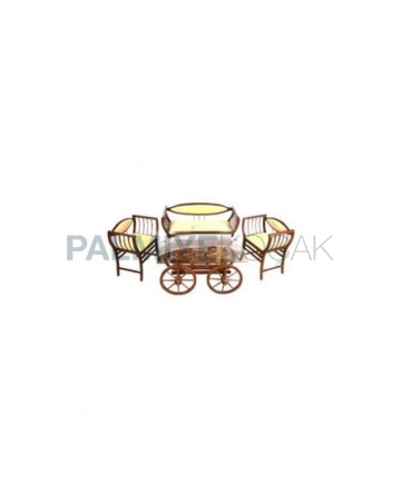 Wooden Marquise Tea Set with Coffee Table
