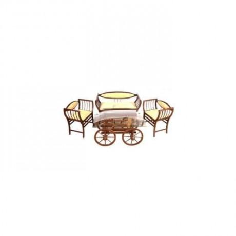Ahşap Markiz Sehpalı Çay Set - cys2