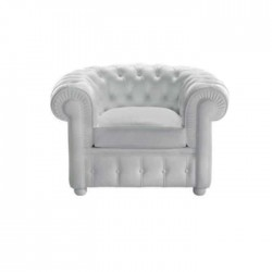 White Leather Upholstered Hotel Chester