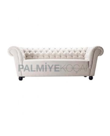 White Fabric Upholstered Chester