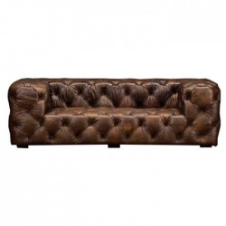 Brown Leather Upholstered Chester Armchair