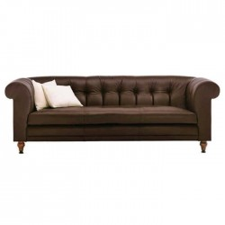 Brown Colored Lounge Chester Armchair