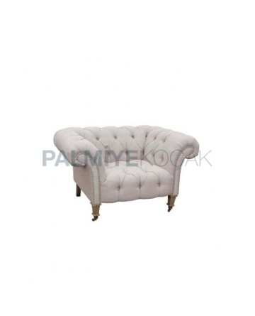 Fabric Upholstered Classic Single Chester Bergere