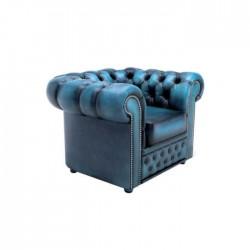 Blue Deep Upholstered Single Chester